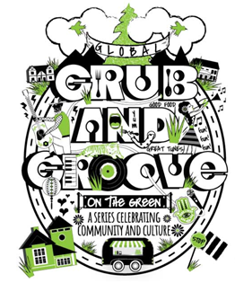 Logo and link to Global Grub and Groove series